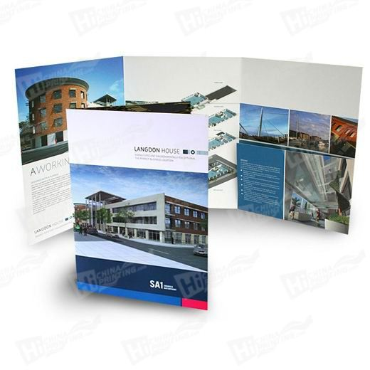Square Style A4 6-Panel Pocket Folders Printing