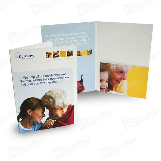 Square Style A4 Single Pocket Folders Printing With 10mm Capacity