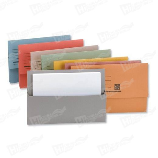 Wallet Style A4 Landscape Pocket Folders Printing With 5mm Capacity