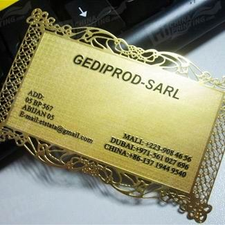 Golden Carving Business Card Printing