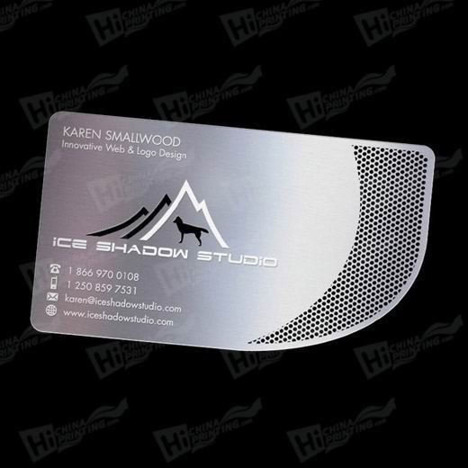 Printed Metal Cards with Glossy Lamination