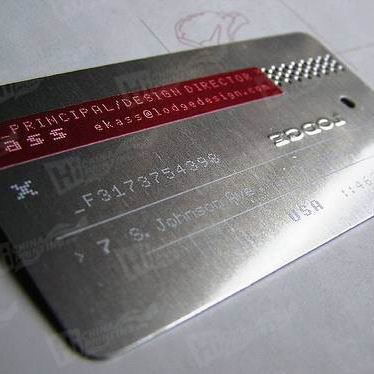 Printed Metal Cards without Glossy Lamination