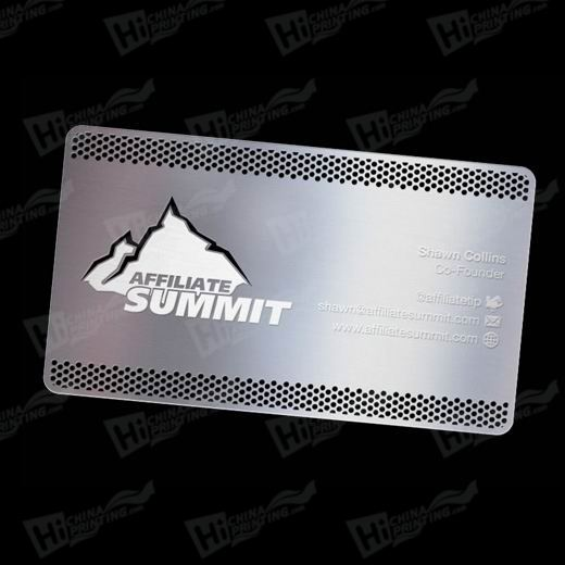 Silver Color Metal Business Card Printing