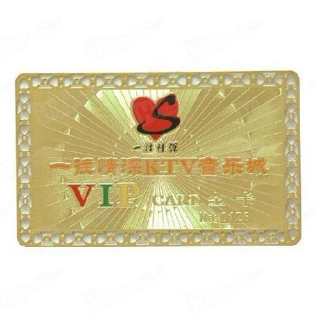 VIP Membership Metal Card Printing