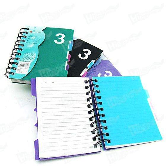 Double Spiral 4C Printed Mini NoteBook
