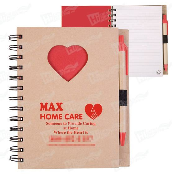 Heart Shaped Notebook Printing