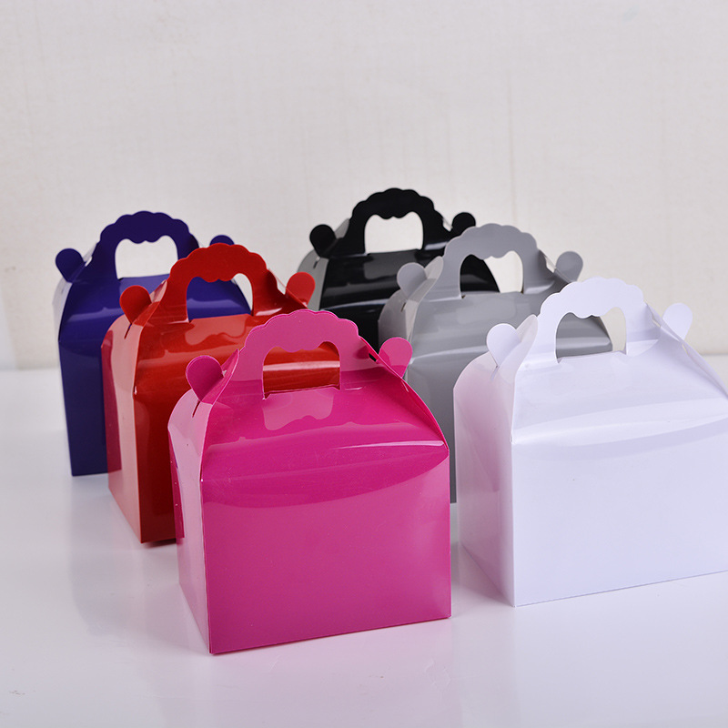 New Candy Gift Packaging Boxes PVC Boxes For Sale, 140mm x 110mm x 80mm, Black/White/Grey/Pink/Purple/Red