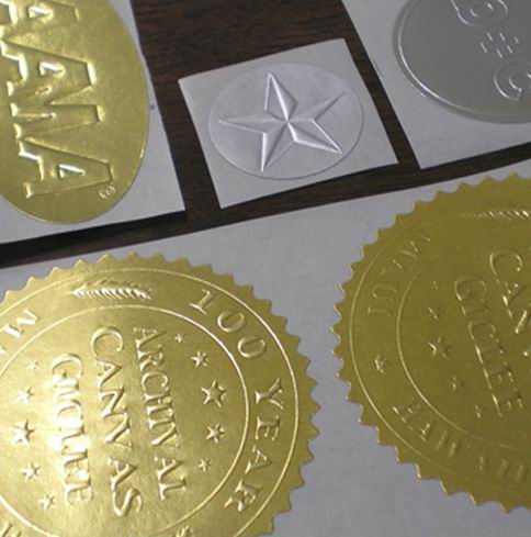 Embossed Labels On Rolls