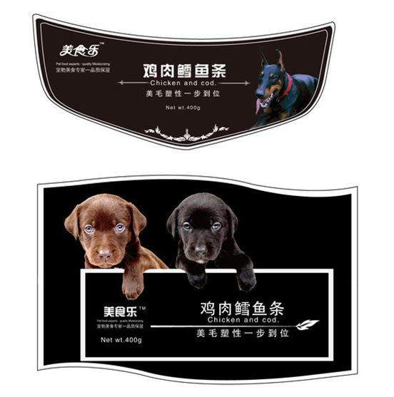 Pet Food Stickers Printing