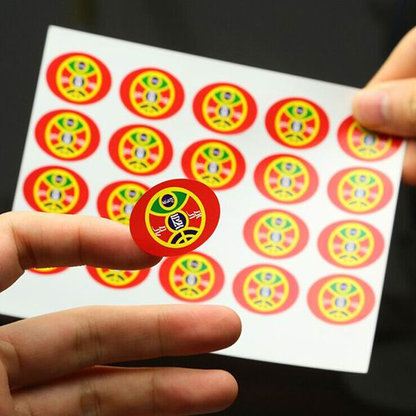Self-adhesive Paper Stickers In Sheet