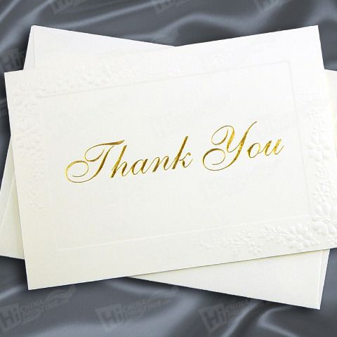 Elegant Thank You Cards Printing