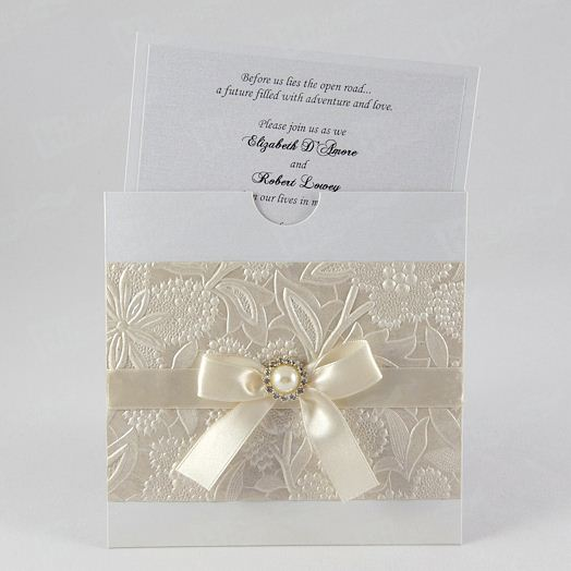 Wedding Cards Printing With Pearls