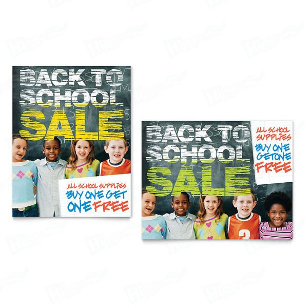 Back to School Sale Posters Printing