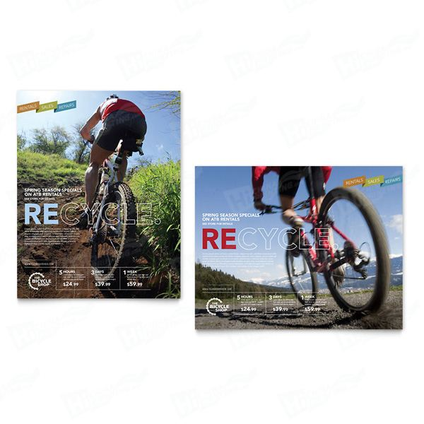 Bike Rentals & Mountain Biking Posters Printing