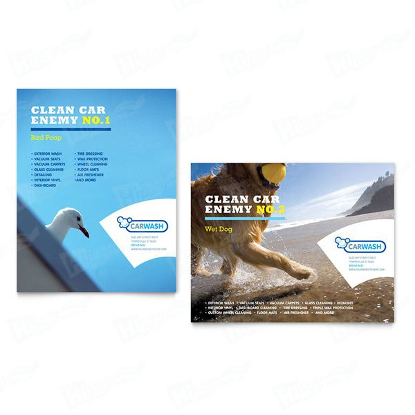 Car Cleaning Posters Printing