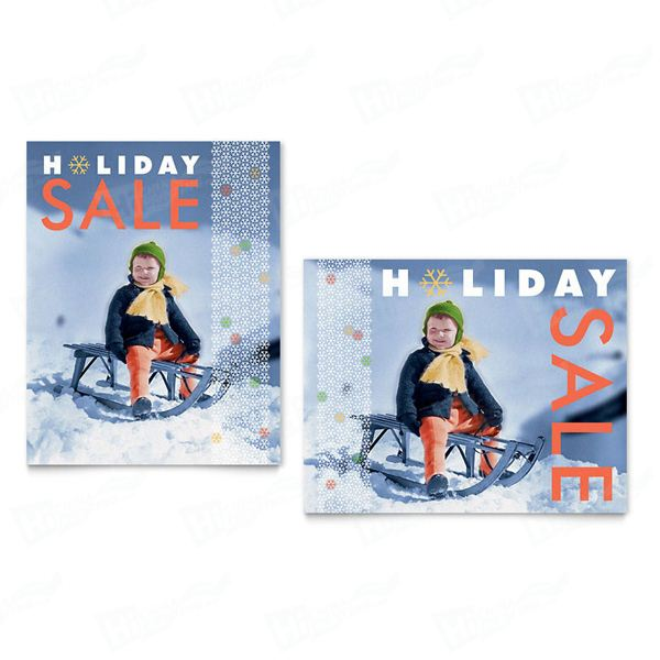 Child Sledding Sale Posters Printing