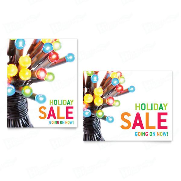 Christmas Lights Sale Posters Printing