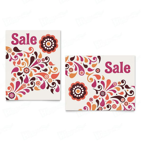 Fall Color Floral Sale Posters Printing