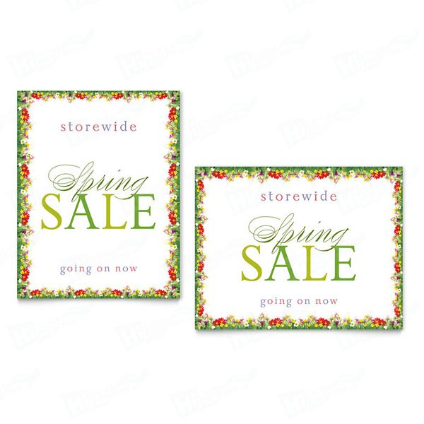 Floral Border Sale Posters Printing
