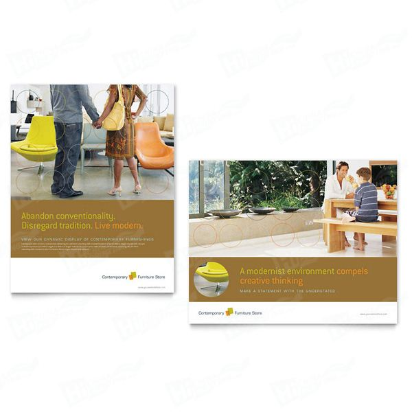Furniture Store Posters Printing