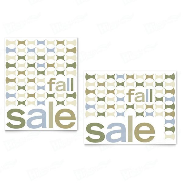 Geometric Fall Color Sale Posters Printing