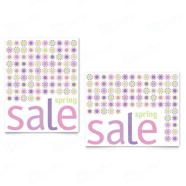 Geometric Spring Color Sale Posters Printing
