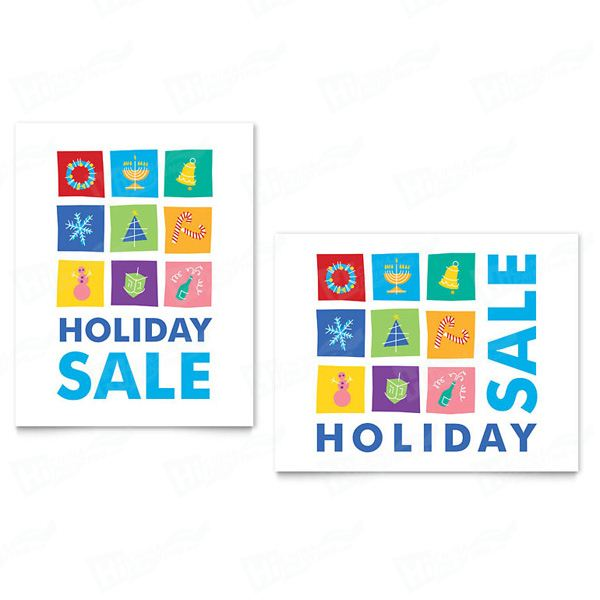 Holiday Icons Sale Posters Printing