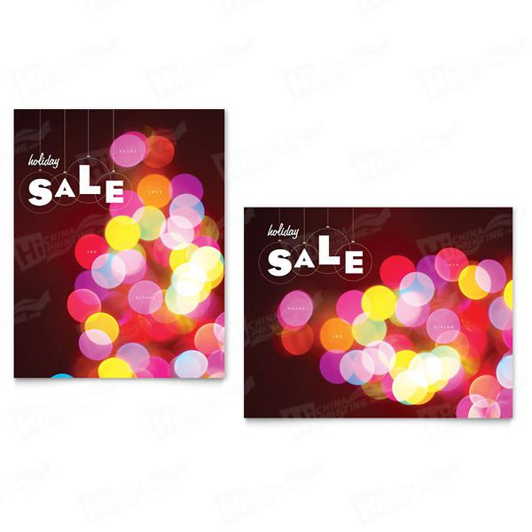Holiday Lights Sale Posters Printing