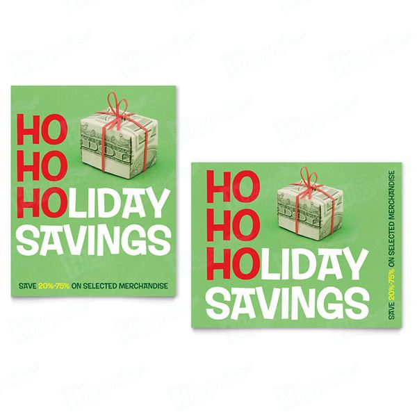 Holiday Savings Sale Posters Printing