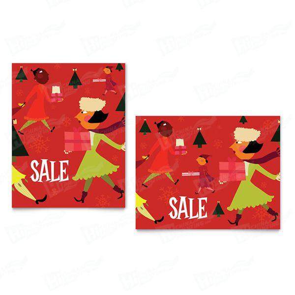 Holiday Shoppers Sale Posters Printing