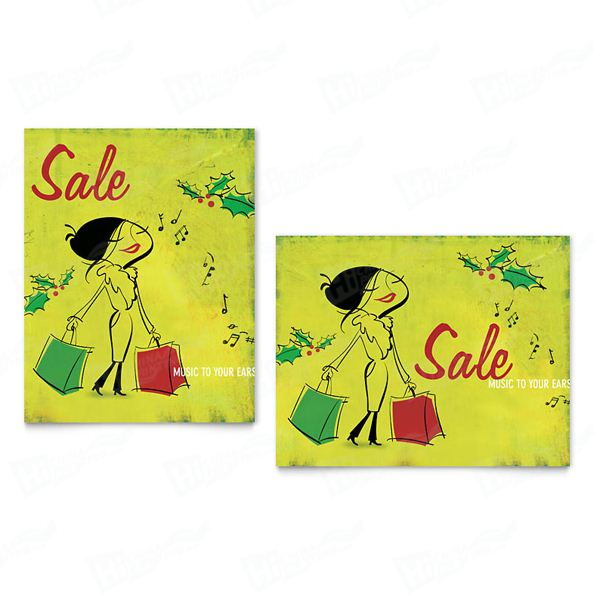 Holiday Shopping Sale Posters Printing
