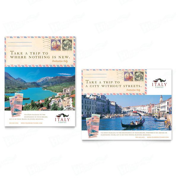 Italy Travel Posters Printing