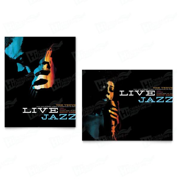Jazz Music Event Posters Printing