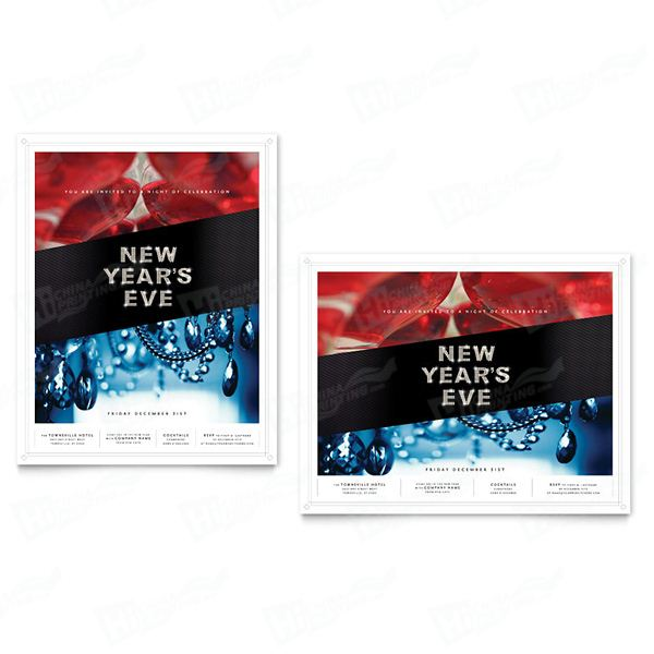 New Year's Eve Party Posters Printing