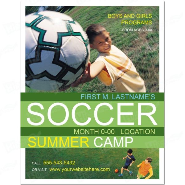 Soccer Sports Camp Posters Printing