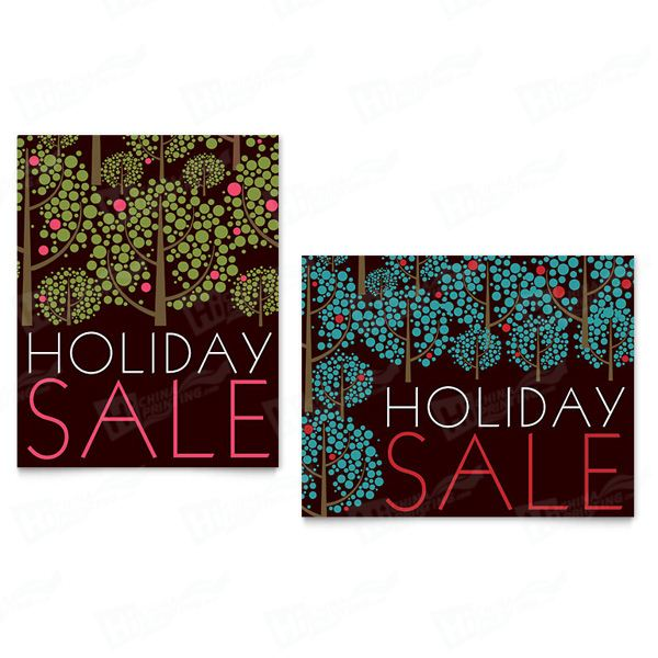 Stylish Holiday Trees Sale Posters Printing