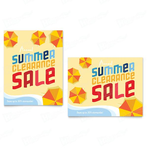 Summer Beach Sale Posters Printing