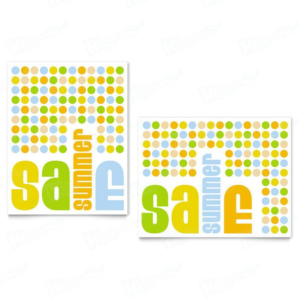 Summer Color Dots Sale Posters Printing