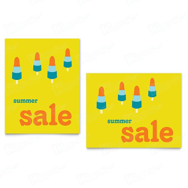 Summer Popsicles Sale Posters Printing