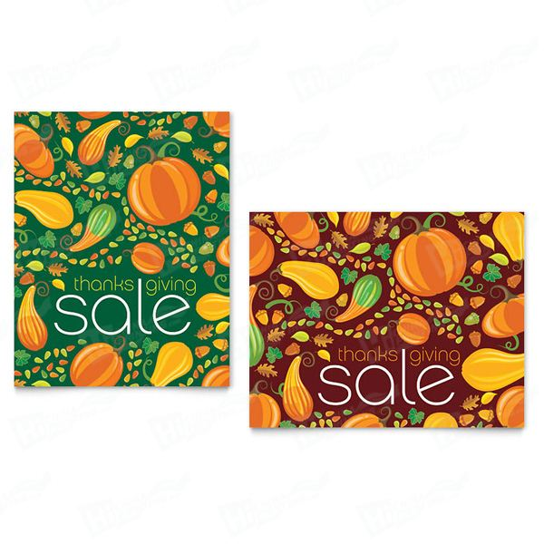 Thanksgiving Harvest Sale Posters Printing