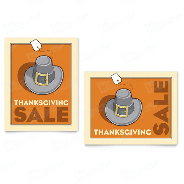 Thanksgiving Pilgrim Sale Posters Printing