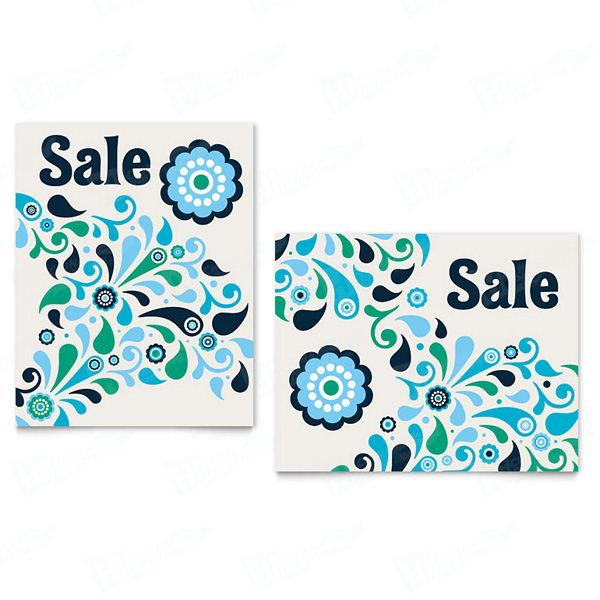 Winter Color Floral Sale Posters Printing