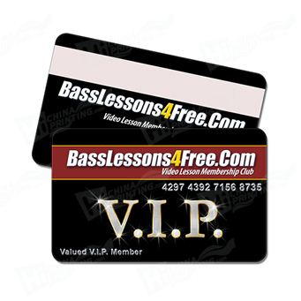Elegant PVC VIP Card Printing for Business Promotion