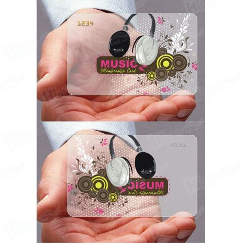 Frosting Plastic Business Card Printing