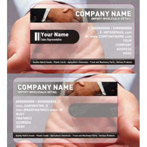 PVC Transparent Card Full Color Printing With Custom Design