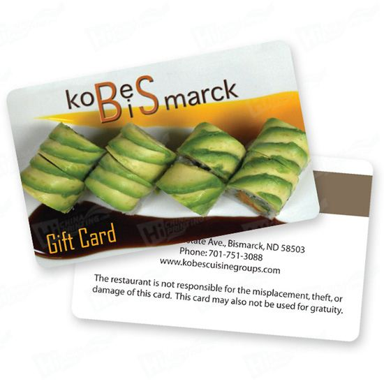 Plastic Gift Cards Printing