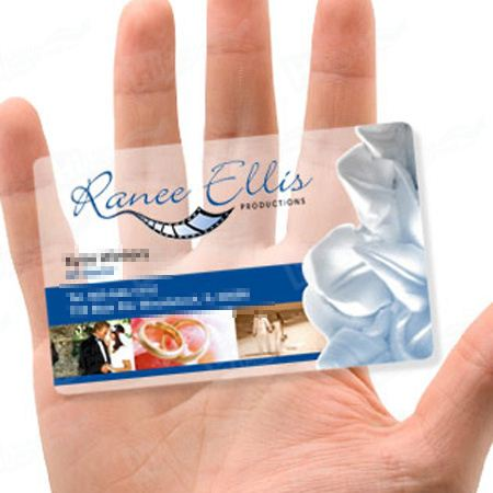 Semi-transparent PVC Cards