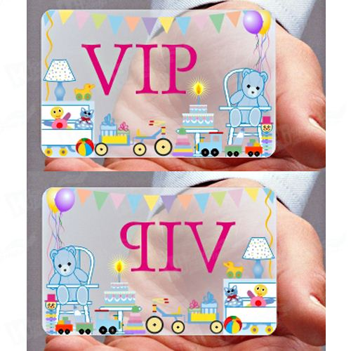 Transparent Plastic Business Cards With Full Color Printing