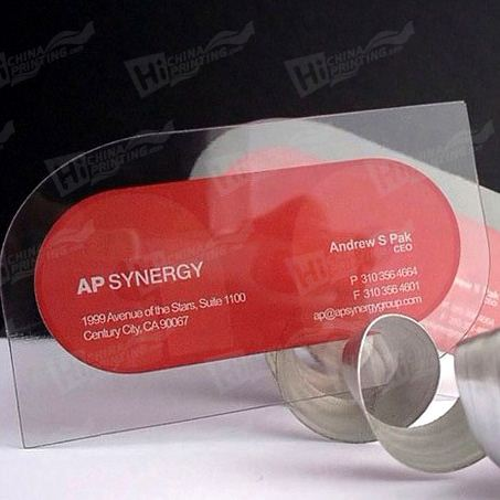 Full Color Clear Transparent Plastic Cards printing