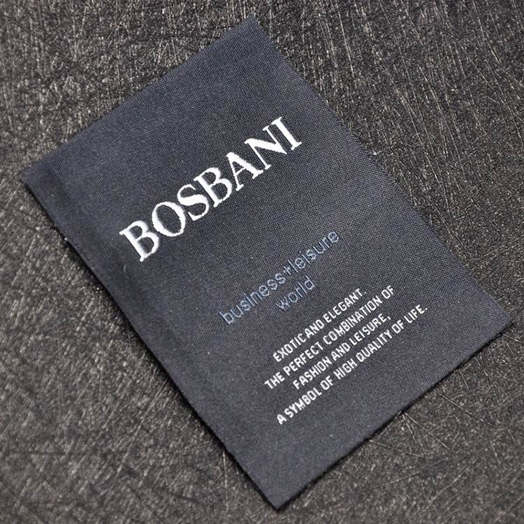 Custom Woven Labels For Men's Apprarel